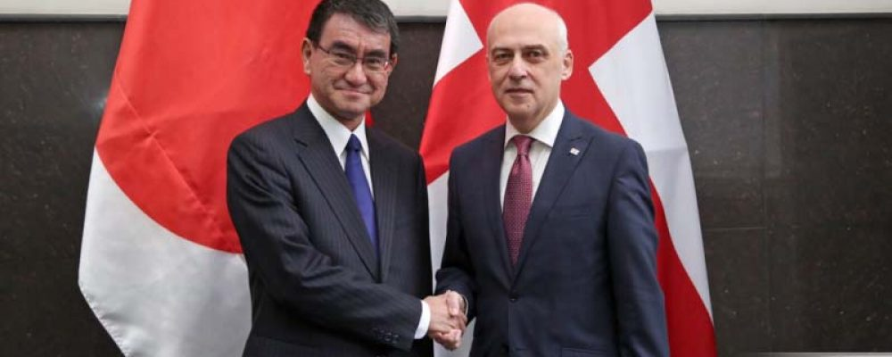 The east road to the west of Georgia is being built with a government loan from Japan